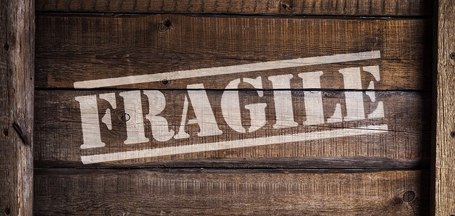 You should write 'fragile' on all items you want to be handled carefully.