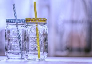 Two water jars.