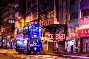 Night bus in Hong Kong